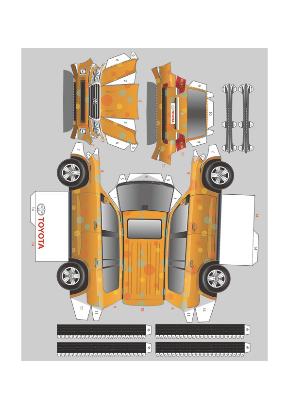 Now You Can Own a Papercraft Toyota :: FOOYOH ENTERTAINMENT