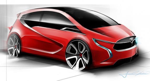 Tesla Internship Project Concept Study: A Tesla Hatchback :: FOOYOH