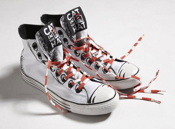 70728adb829 The latest Converse collection celebrates all things Seuss and each pair  even comes in an exclusive Cat in the Hat cinch bag.