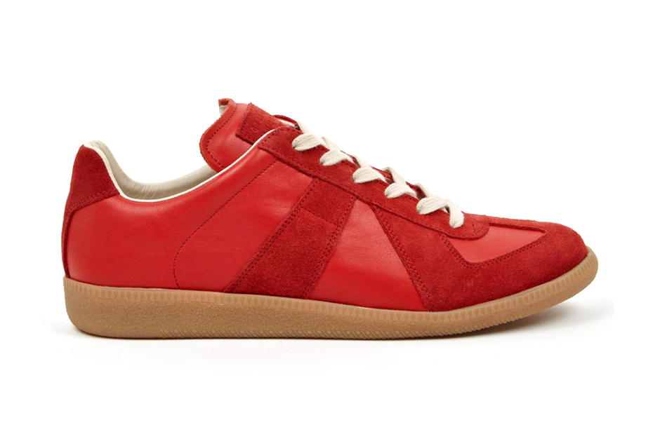 3077d1553412 The latest from Maison Martin Margiela s 2014 Spring Summer pre-collection  comes in the form of the 22 Red Replica sneaker. The sneaker is crafted  from ...