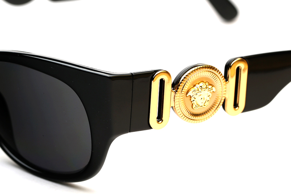 61ac987aea03 Versace is bringing old school back. They unearth the 4265 Iconic Archive  Edition Sunglasses for a limited release run. Look for the Versace 4265  sunglasses ...