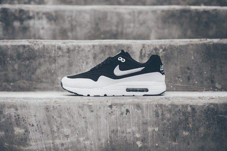 hot sale online 1cec1 b7a40 Nike reveals an all-new black and white color combination of the Air Max 1  Ultra Moire silhouette in a perforated black upper contrasted with a  debossed ...