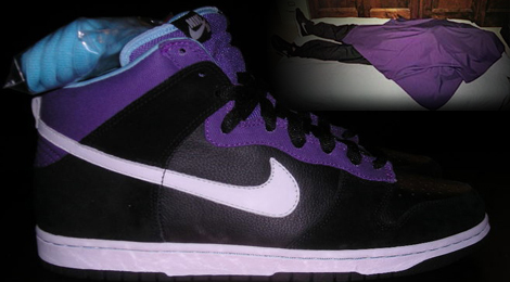 7bf628b056ae6 ... Nike discontinued work on this sweet black-and-purple prototype Dunk  shoe because it reminded consumers too much of the Heaven's Gate cult mass  suicide.