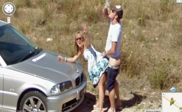 Google Street View image shows naked man in car boot