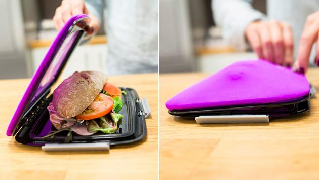 Unikia S Compleat Foodskin Lunchbag Can Magically Expand To Accommodate More Than Just A Piece Of Sandwich And When You Re Done Eating It Be Flat