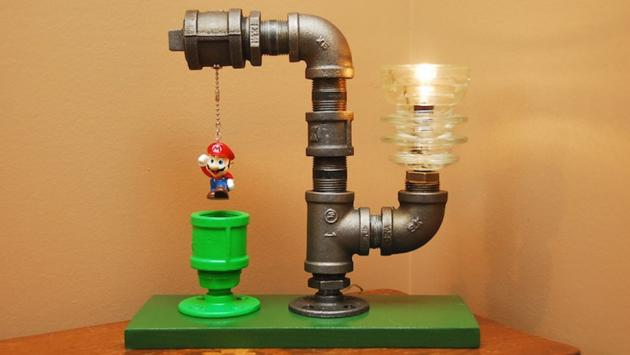 Super Mario Lamp Belongs On Every Geek's Desk Right Now :: FOOYOH ...:We come across a lot of geek stuff everyday on the Internet. Today, this is  one of the things we really want on our desks. A Super Mario pipe lamp.,Lighting