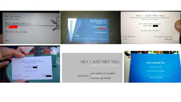 Catchy pop lyric is the new business card slogan pic for Catchy business cards