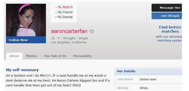 Online dating profile self summary