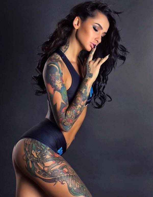 Hardcore girls with tattoos something is