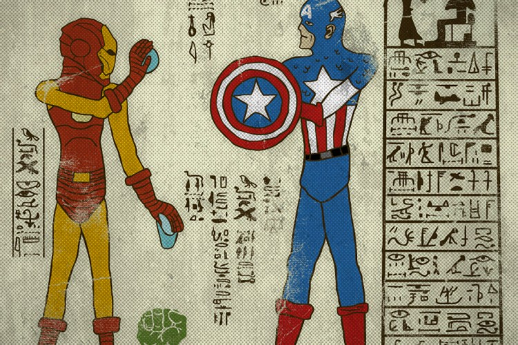 hieroglyphic superheros are awesome :: fooyoh entertainment, Powerpoint templates