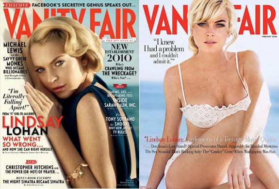 Lohan nude vanity fair