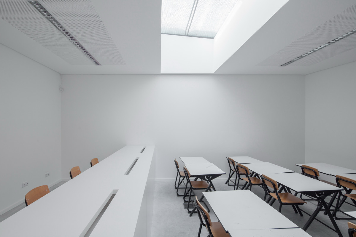 Modern White Classroom ~ Ultra modern private school in portugal by oval daily k