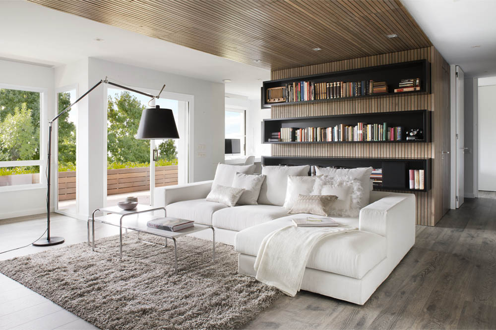 Modern House Interior Design. Charming Modern Apartment In Barcelona Is  Perfect For Book Lovers