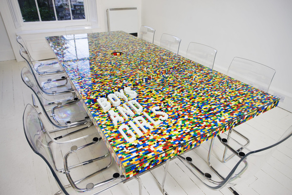 Cool Conference Room Tables cool conference room table made from lego blocks :: fooyoh