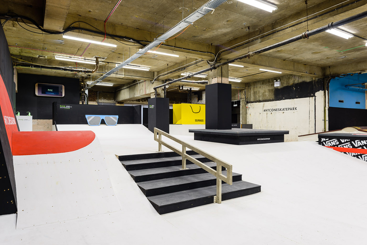 Old selfridges hotel transformed into britain 39 s largest for Indoor skatepark design uk