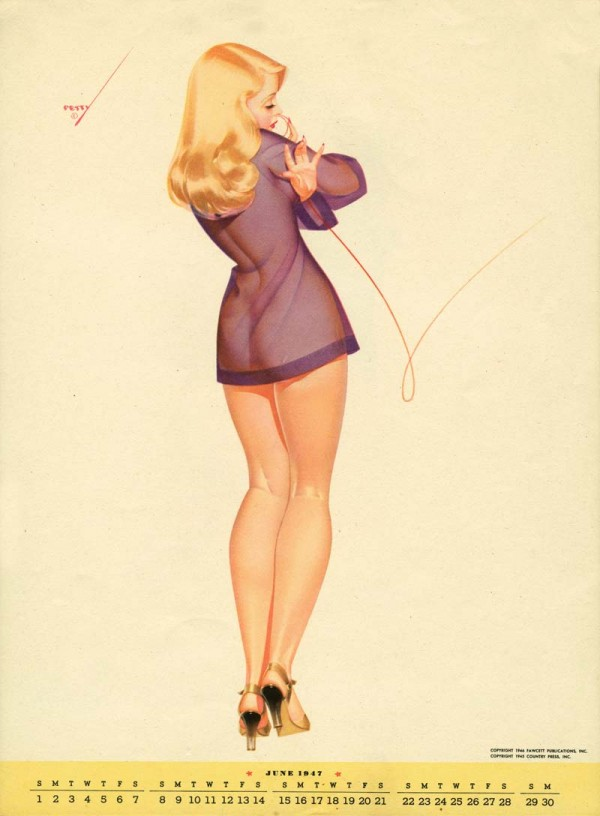 George Petty Pin Up Illustrations From 1947 Fooyoh