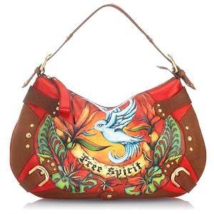 52bf5dcf6ac Isabella Fiore  Free Spirit  Audra Hobo Handbag    FOOYOH ENTERTAINMENT
