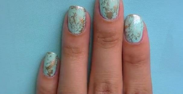 Youll Need A Plastic Bag For This Funky Nail Design Video