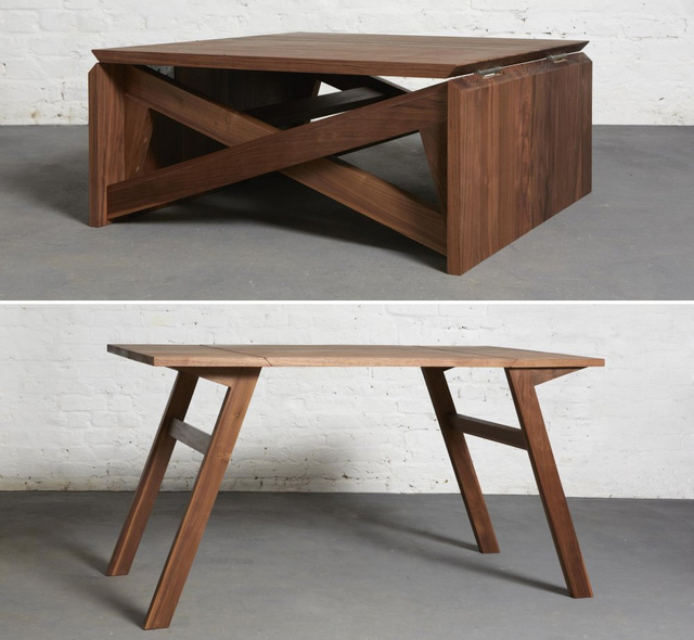 this coffee table turns into a dining table in seconds fooyoh entertainment