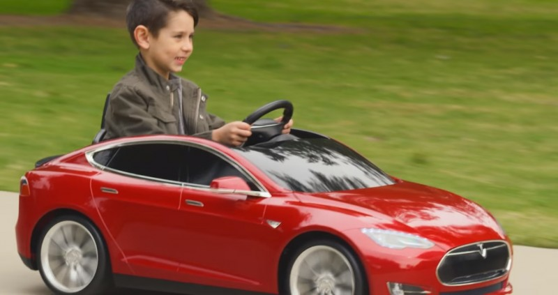 Rich Parents Can Now Buy Their Kids A Mini Tesla For 500
