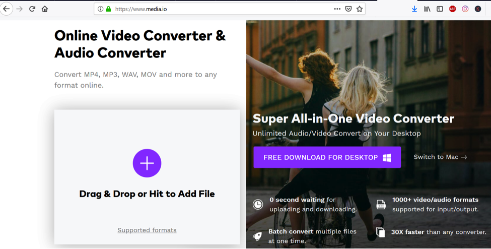 How to Convert MP4 video formats to AVI video formats