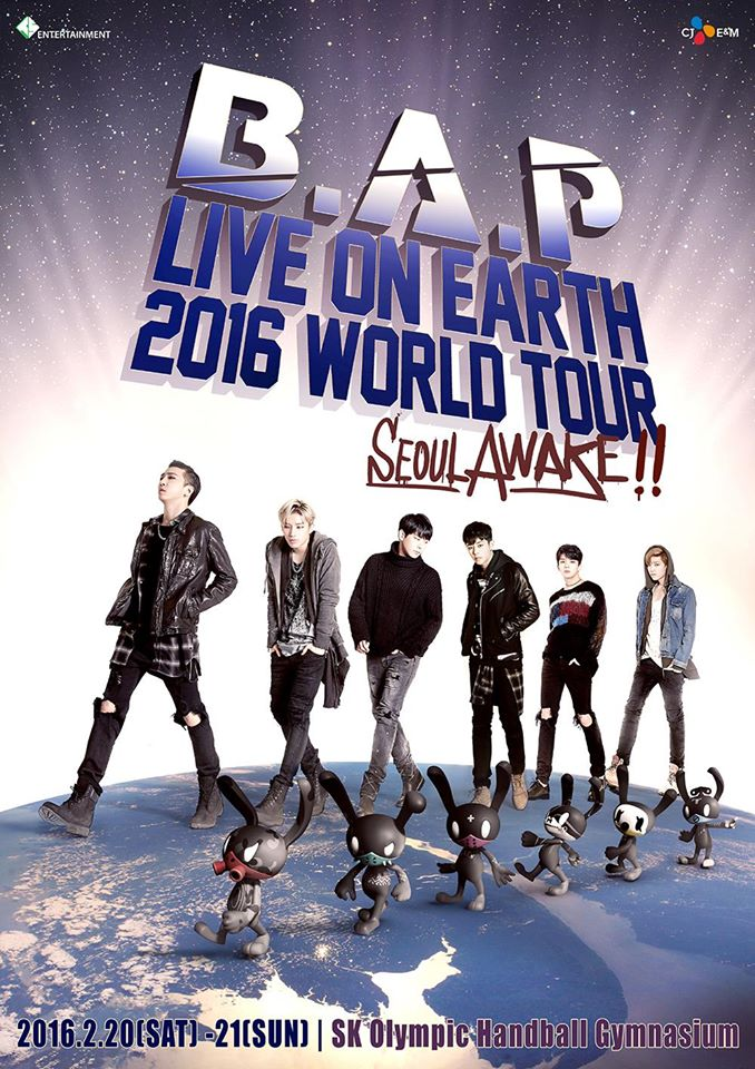 B A P To Kick Off Their 'LIVE ON EARTH 2016 WORLD TOUR' In