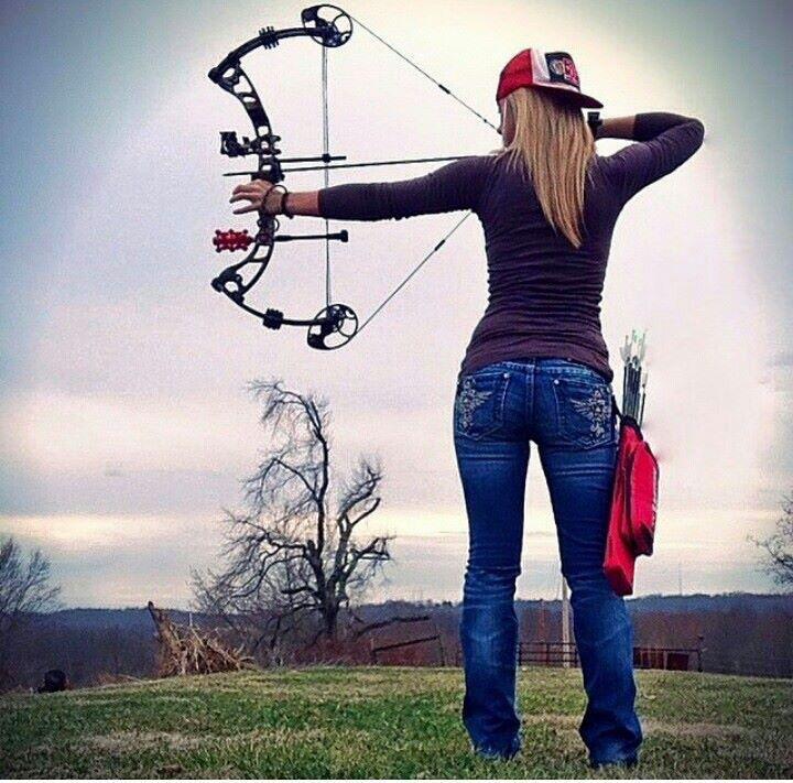 Hot Girl Shooting Bow
