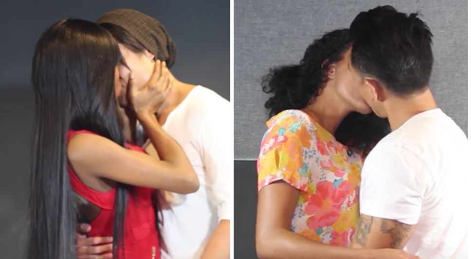 Watch black girls kiss asian guys for the first time fooyoh this latest social experiment explores multi cultural kiss exchanges between black women and asian men check it out stopboris Gallery